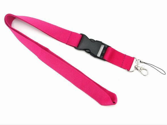 Blanco amarillo anaranjado verde rojo púrpura negro rosa azul sólido en blanco cordón/MP3/4 teléfono celular/llavero/Collar de correa de cuello