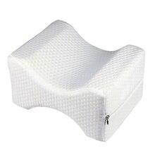 Прочная подушка из пены с эффектом памяти, белая мягкая подушка для ног для путешествий, офисный наколенник, подушка для колен