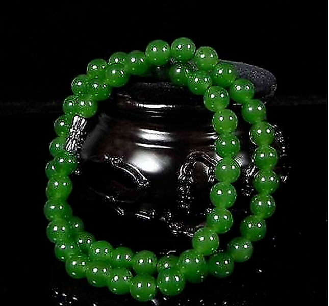 Genuine Natural Green Beads Necklace Chinese Jadeite Jewelry Fashion Charm Accessories Lucky Amulet Gifts For Women Her Men