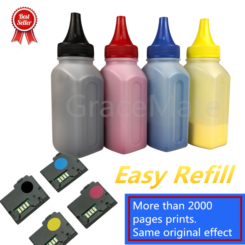 Toner Refill For Dell C1760 C1760nw C1765 C1765nf C1765nfw With Color Chip For DELL 1760 C1760 Laser Printer