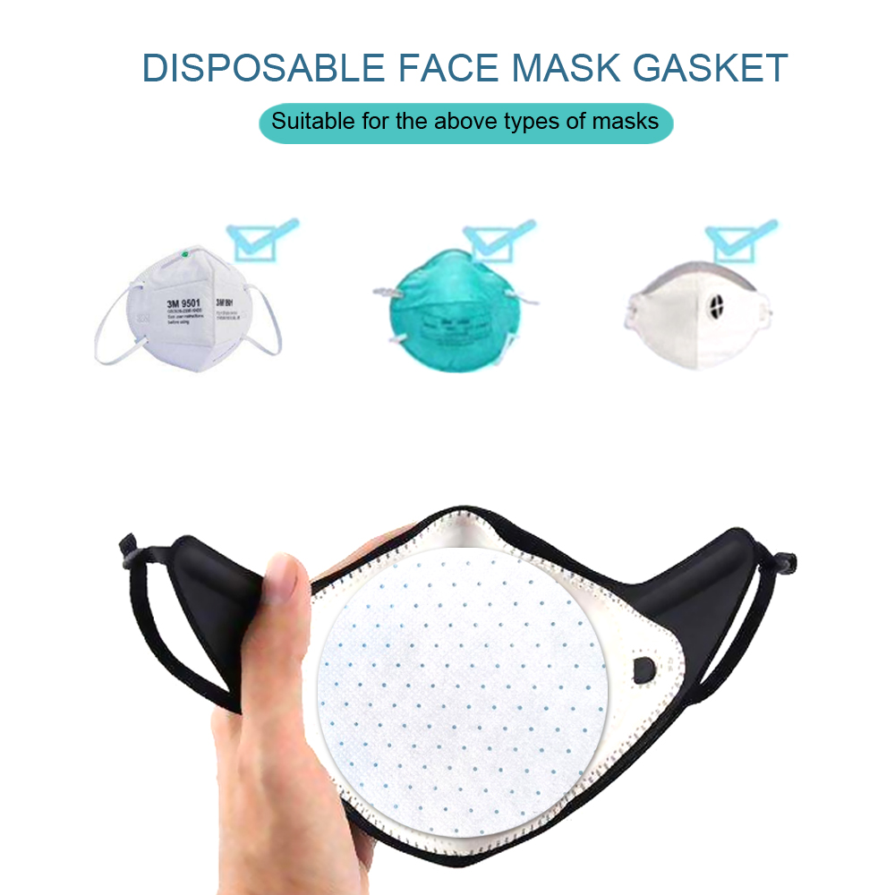 10/20/30/40/50Pcs Disposable 3 Layer Mask Gasket Dust-proof And Haze Breathable Mouth Face Mask Replacement Pad Round Cotton Mat