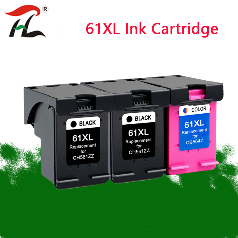 YLC 61XL Refilled Ink Cartridge Replacement For HP 61 XL For HP Deskjet 1000 1050 1055 2000 2050 2512 3000 J110a J210a J310a