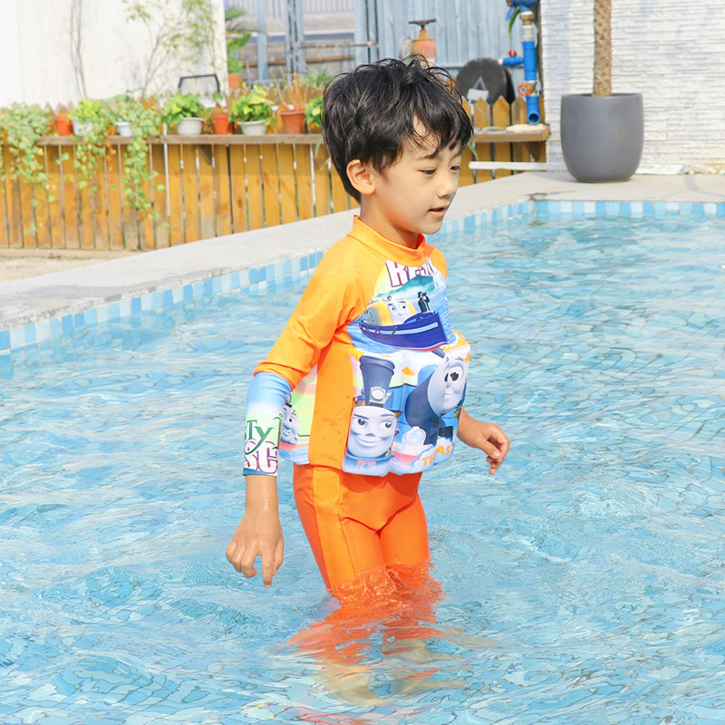 CHILDREN'S Children Buoyancy Bathing Suit BOY'S GIRL'S Baby Infant Kids One-piece Sun-resistant Floating Learn Swimming Equipmen