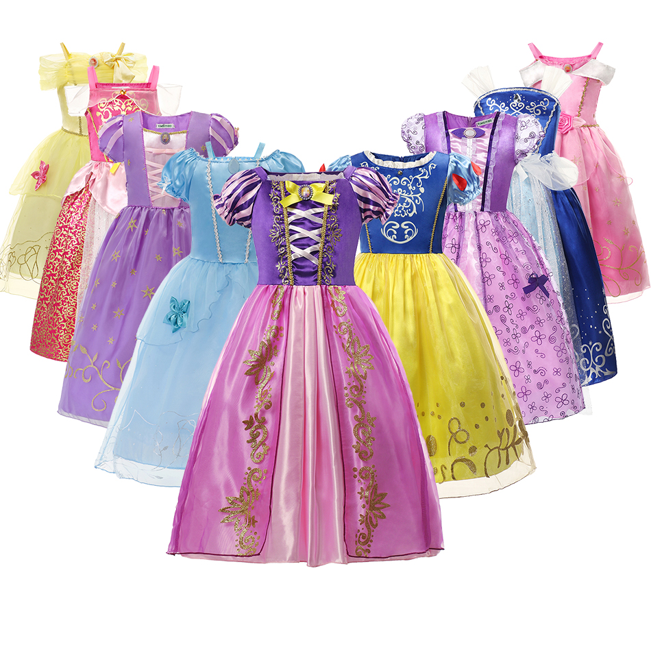 Vestido de princesa para niña, disfraz de Halloween, ropa de fiesta de cumpleaños para niña, Vestidos para niño, bata, vestido elegante para niña