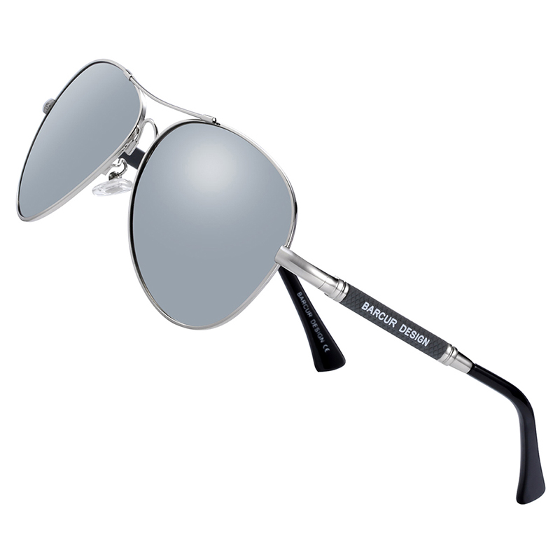 H6f1aa21f305f4e65b29fbfd7103c55acX BARCUR TR90 Sunglasses Polarized Men's Sun glasses Women Pilot UV400 Mirror Oculos de sol