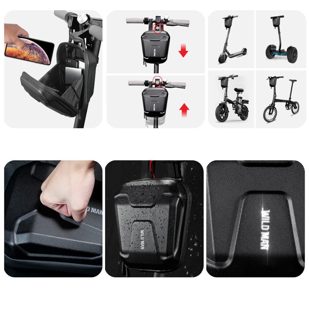 Купить с кэшбэком Xiaomi M365 Universal Electric Scooter Head Handle Bag EVA Hard Shell Bag for Xiaomi M365 ES1 ES2 ES3 ES4 Skateboard Hanging Bag