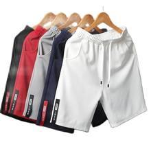 Cales brancos masculinos estilo japons polister correndo esporte shorts vero elstico parágrafo homem ocasional cintura slida