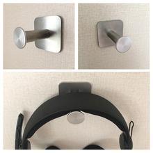 Durable Headphone Headset Holder Hanger Earphone Wall/Desk Portable Stainless Steel With Sticker