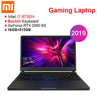 2019 Xiaomi Gaming Laptop 15.6 ''Windows 10 Intel Core I7-9750H Hexa Core 16GB RAM 512GB SSD Notebook für Business Spiel Büro