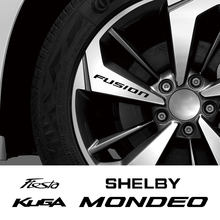 4 шт. автомобиль наклейка на обод колеса для Ford ECOSPORT EDGE ESCAPE EXPLORER Fiesta Fusion Джиа KUGA MONDEO MUSTANG RANGER Шелби ST Телец