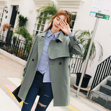 New Short Trench Coat Autumn 2019 Chic INS Style Casual Windbreaker Fashion Slim Cotton Basic Outerwear