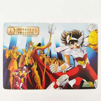 2pcs/set Saint Seiya 2 In 1 Sea Fighter Poseidon Gallon Hobby Collectibles Game Collection Anime Cards Limited
