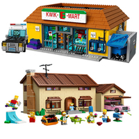 Cartoon Simpsons House Building Blocks Bricks DIY Compatible lepinglys 71006 Classic architecture birthday Toys Christmas Gift
