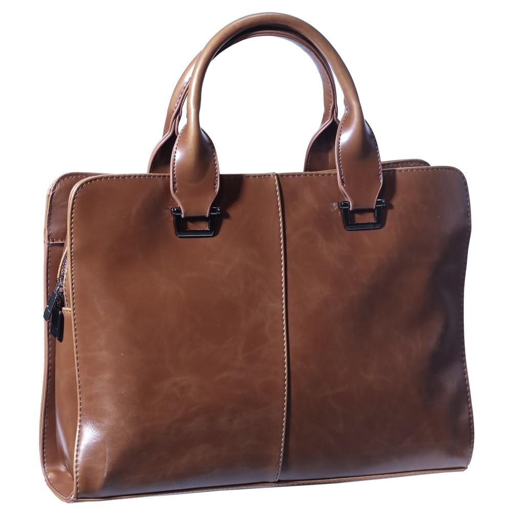 Business Briefcase Men's Bag Handbag Leather PU Cross Section Shoulder Bag Messenger Laptop Bag
