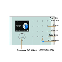Home security anti theft alarm iOS Android APP control touch keyboard smart alarm sensor kit two ways intercom anti pry alarm