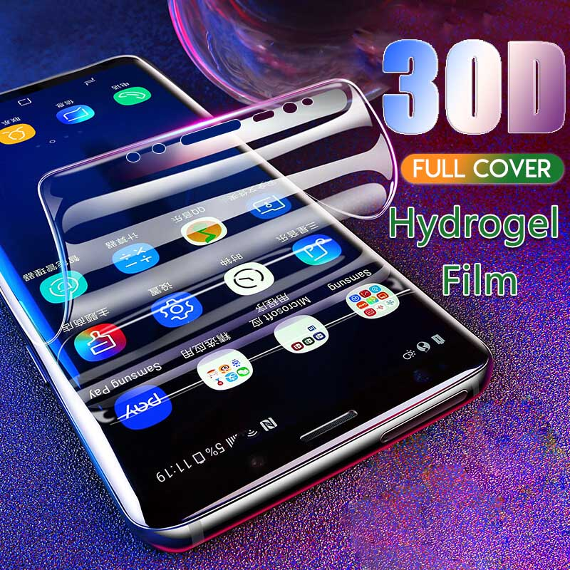 Full <font><b>Cover</b></font> <font><b>Screen</b></font> Protector For <font><b>Samsung</b></font> Galaxy <font><b>S10</b></font> S9 S8 Plus Hydrogel Protection For S10E Note 9 8 S7 S6 Edge Protective Film image