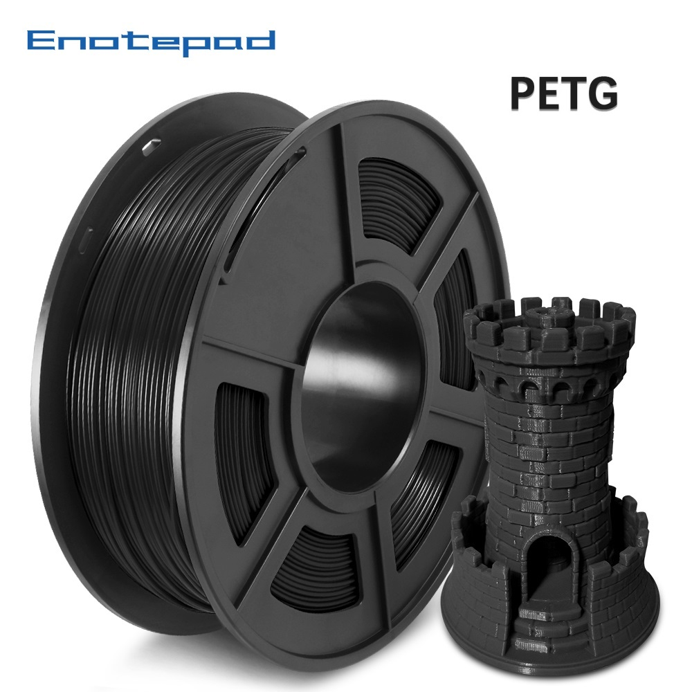 Enotepad 3D Printer Filament  1 75mm PETG 1KG Spool 100percent no bubble for Education DIY Technology Commerce Design