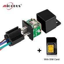 Relais Mini GPS Tracker Motorrad Tow Alarm ACC Erkennung GPS Tracking Tracker Gerät Auto Versteckte Design Schnitt Kraftstoff Mit karte
