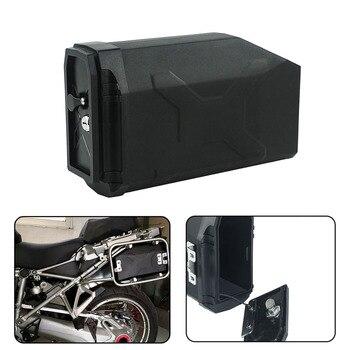 For BMW R1200GS R 1200 GS R1200 GS ADV Adventure LC 13-2019 Decorative Plastic Box Toolbox Tool Box Left Side Bracket With Locks for bmw r1200gs lc adventure tool box decorative box toolbox 5 liter for left side bracket r1200 gs gsa 2014 2015 2016 2017 2108