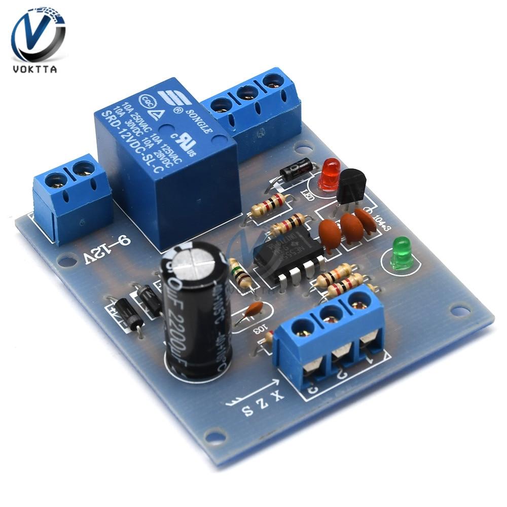 9V-12V kontroler poziomu wody w płynie czujnik automatyczny pompowanie drenaż wykrywanie poziomu wody pompa wody płytka obwodowa sterująca