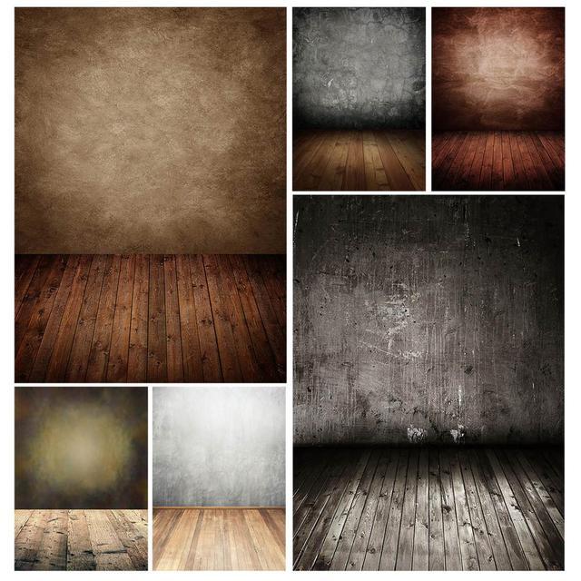 Kahverengi duvar ahşap zemin fotografik arka planında çocuk bebek vinil kumaş fotoğraf arka planında fotoğraf stüdyosu için Fundo Fotografia