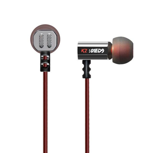 KZ ED9 سوبر السلطانية ضبط فوهات سماعة في الأذن شاشات HiFi سماعات الأذن مع الميكروفون سماعة صوت شفافة سماعات ديناميكية