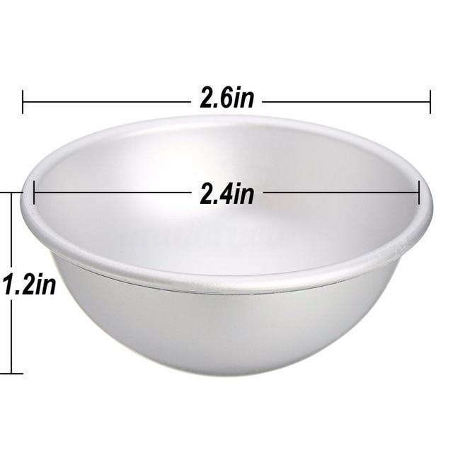 6pcs 3 Sets Aluminium Alloy Bath Bomb Molds DIY Tool Bath Bomb Salt Ball Homemade Crafting Gifts Semicircle Sphere 4