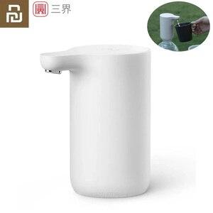 Image 1 - Портативный автоматический диспенсер для воды Youpin Sanjie, Электрический водяной насос, универсальная бутылка для галлонов, кнопка переключения, USB зарядное устройство