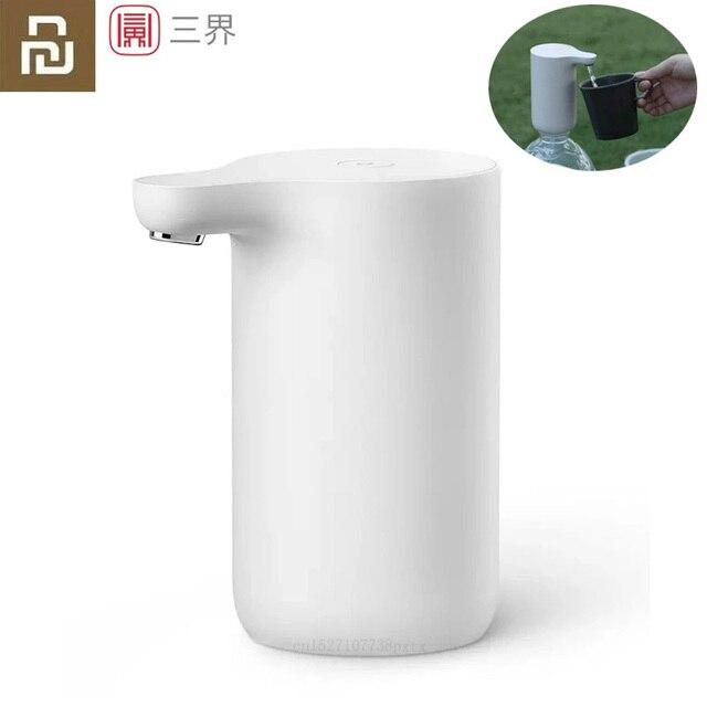 Портативный автоматический диспенсер для воды Youpin Sanjie, Электрический водяной насос, универсальная бутылка для галлонов, кнопка переключения, USB зарядное устройство