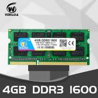VEINEDA ddr3 4gb 8 gb 1333 1600 SODIMM PC3-10600 204pin 1,5 V speicher für Laptop RAM, kompatibel mit alle motherboard