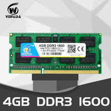 VEINEDA ddr3 4gb 8 gb 1333 1600 SODIMM PC3-10600 204pin 1,5 V speicher für Laptop RAM, kompatibel mit alle motherboard(China)