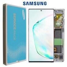 """6.8 """"100% מקורי סופר AMOLED תצוגה עבור SAMSUNG Galaxy NOTE10 + N975 N975F N9750/DS תצוגת מגע מסך החלפת חלקים"""