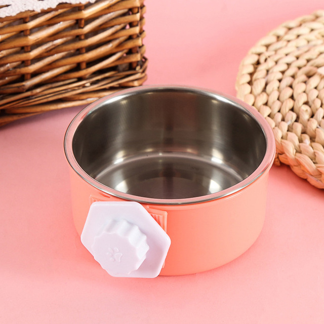 Cage Bowl Hanging Dogs Dog Feeder Pet Feeding Bowl 3 Colors Separable Hamsters Puppy Water Food 2