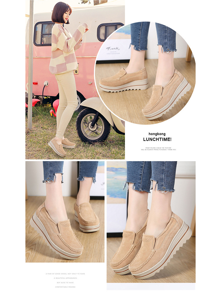 Women Flats Plus Size Increase Wedge Flat Shoes Women Fashion Moccasins Ladies Female Footwear Sneaker Zapatos De Mujer VT613 (2)