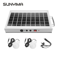 SUNYIMA Portable LED Solar Light Waterproof Panel Emergency Outdoor Solar Panel Light USB Rechargeable Tent Camping Light Bulb