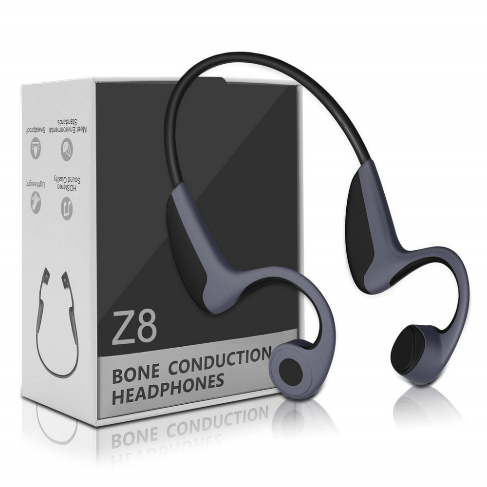 Наушники Z8 с костной проводимостью, беспроводные Bluetooth наушники, уличная спортивная гарнитура с микрофоном, гарнитура с защитой от пота, дву...