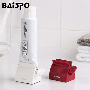 BAISPO Multifunction Toothpaste Tube Squeezer Squeezer Toothpaste Easy Portable Plastic Dispenser Bathroom accessories sets(China)