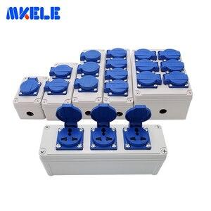 Image 2 - Пластиковая универсальная водонепроницаемая розетка, домашняя розетка, распределительная коробка, уличная непромокаемая коробка с кабельными железами, соединители для проводов