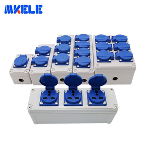 Image 2 - Plastic Universal Waterproof Socket Box Household Socket Junction Box Outdoor Rainproof  Box With Cable Glands Wire Connectors