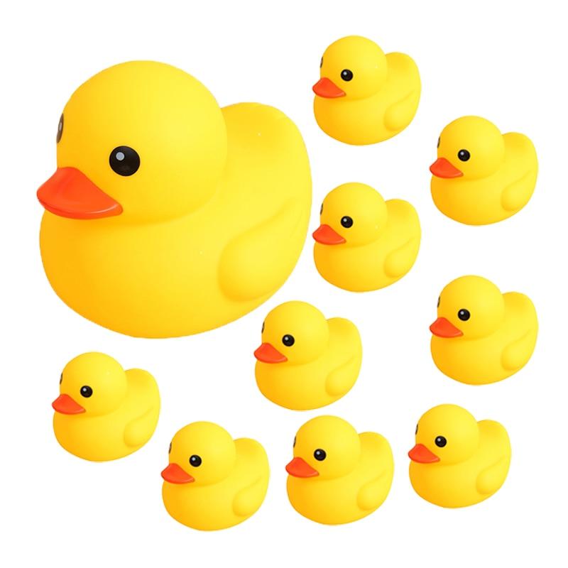 Игрушка для ванны, плавающая водная утка, милые мягкие резиновые плавающие утки, сжимаемые звуки, игровые Забавные Игрушки для ванны, подарк...