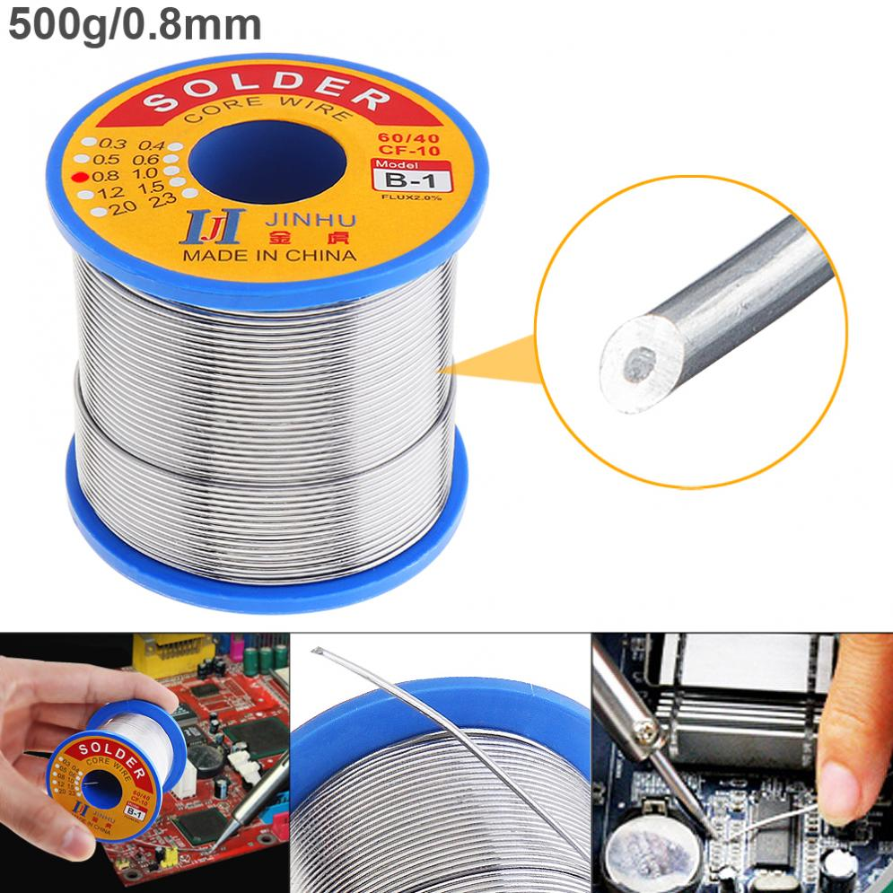 <font><b>60</b></font>/<font><b>40</b></font> B-1 500g 0.8mm No-clean Rosin Core <font><b>Solder</b></font> Wire with 2.0% Flux and Low Melting Point for Electric Soldering Iron image
