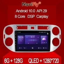 Mekede 6gb + 128gb qled 1280*720 android 10 para volkswagen tiguan 1 nf 2006 - 2016 navegação gps carro multimídia jogador de rádio