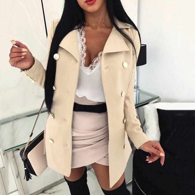 High Quality Wool Coat Women Winter Warm Coat Plus Size Womens Lady Long Sleeve Button Long Coats Casual Jacket Outwear#g3 3