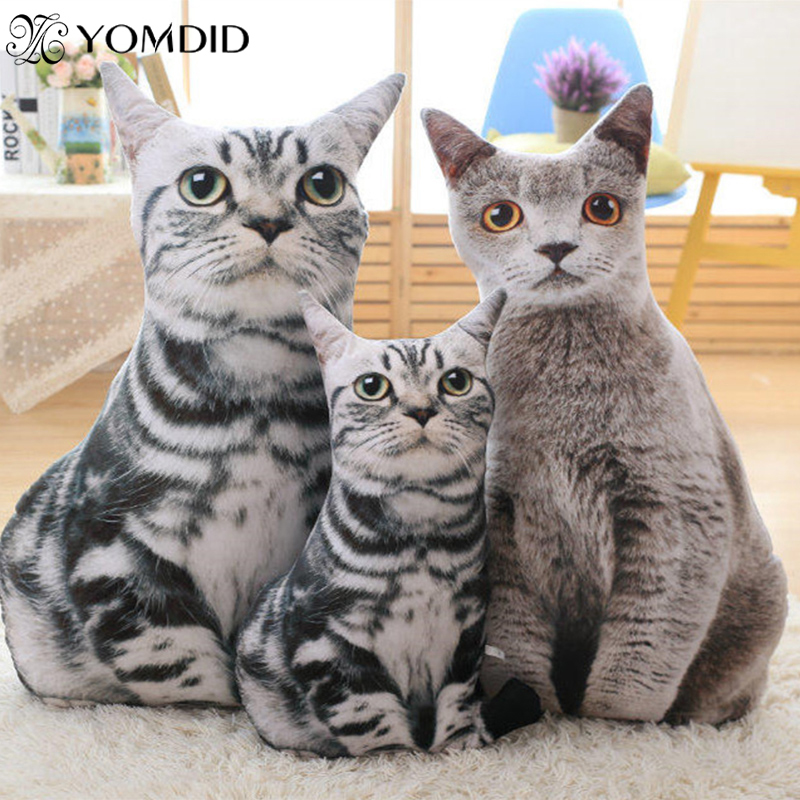 Soft Animal Cushion Funny Cats Pillows Christmas Cat Dog Toys Creative Cute Cat Shape Pillows Funny Birthday Gifts Plush Toys