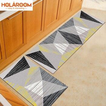 Holaroom-alfombra nórdica de cocina con estampado 3d, felpudo para el hogar, sala...