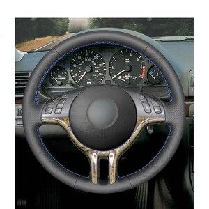 Image 2 - Tay Đeo Đen Da Nhân Tạo PU Bọc Vô Lăng cho XE BMW E46 318i 325i 330ci E39 X5 E53 Z3 e36/7 E36/8(Coupe)