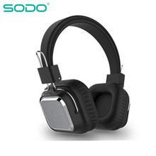 SODO SD-1003 Bluetooth Headphone On-Ear Wired Wireless Headphones Foldable Bluetooth 5 0 Stereo Headset with Mic Support TF Card cheap Balanced Armature CN(Origin) Wireless+Wired 120dBdB 0 3mm For Internet Bar for Video Game Common Headphone For Mobile Phone