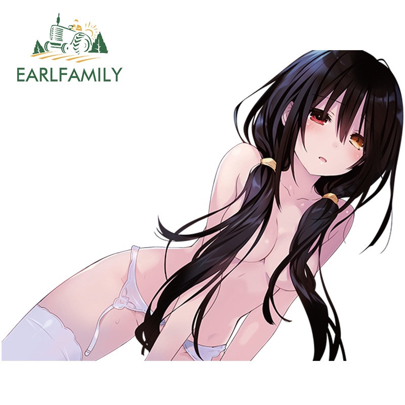 EARLFAMILY Sexy Girl Car Sticker Laptop Skateboard Luggage Decal Anime JDM Waterproof Car Styling Accessories