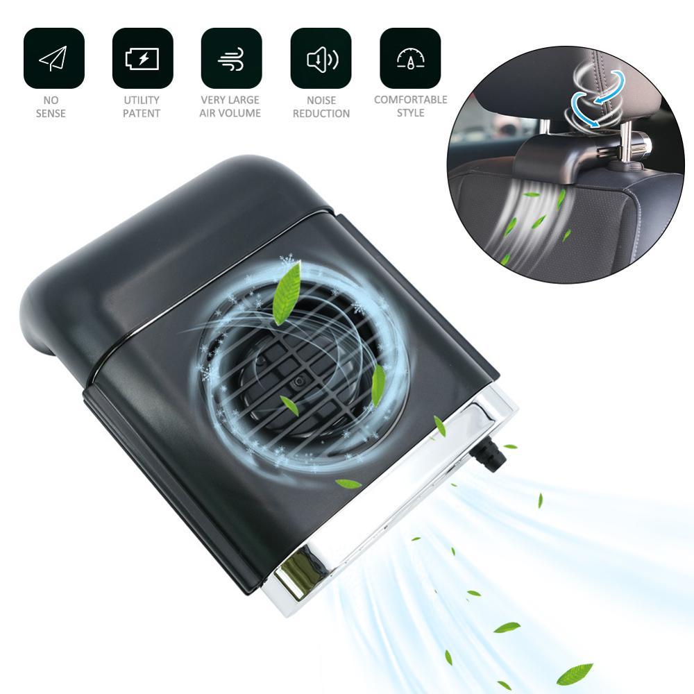1PCS USB Car Seat Cooling Fan Car Air Vent Fan Car Cooling Accessories Swing Fan Car Exhaust fan Car Interior Accessories