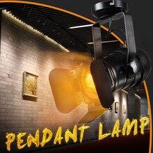 Styl industrialny Retro LED lampa sufitowa E27 żarówka wewnętrzna lampa punktowa LED do kawiarni sklep odzieżowy barowa artystyczna wystawa Studio